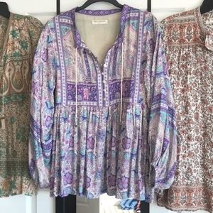 Spell Designs Poinciana Blouse Purple